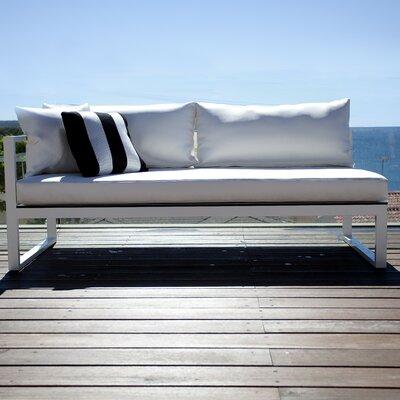 Piano Left Arm Sofa with Mesh Cushions Fabric: Marine Vinyl White, Finish: White
