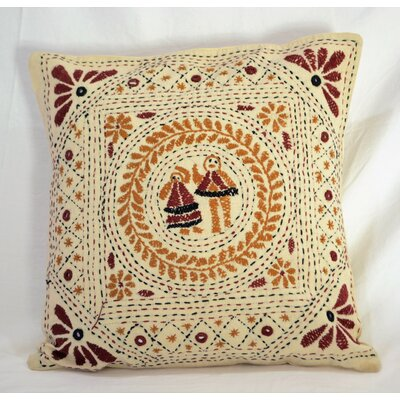 Home Hand Embroidered Throw Pillow