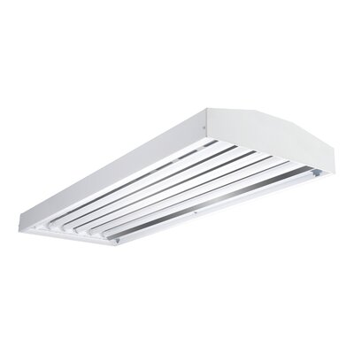 6-Light 32-Watt Fluorescent High Bay Wattage: 32, Uplight Aperture: Without Uplight Apertures
