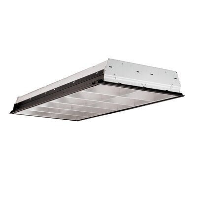 2-Light Fluorescent Parabolic High Bay Finish: White/Silver, Bulb Type: Fluorescent