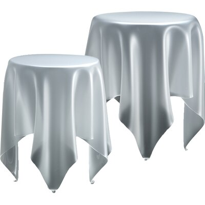 Grand Illusion End Table Color: Ice White