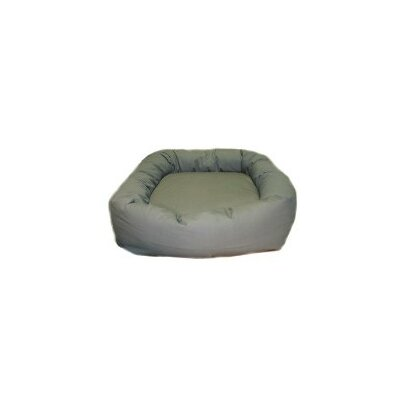 Oblong Donut Dog Bed Color: Olive Microvelvet, Size: Small (24 L x 24 W)