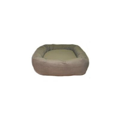 Oblong Memory Foam Donut Dog Bed Color: Olive Microvelvet, Size: Small (24 L x 24 W)