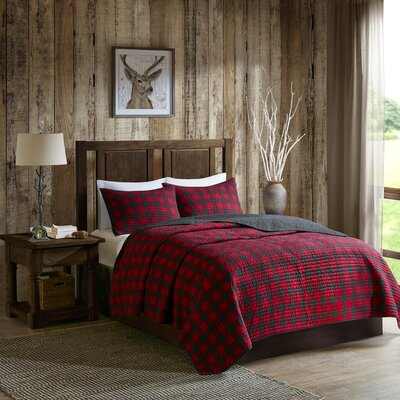 Woolrich Check 3 Piece Quilt Set Size: King/Cal King