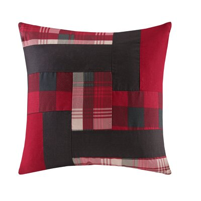 Patchwork Throw Pillow Color: Red
