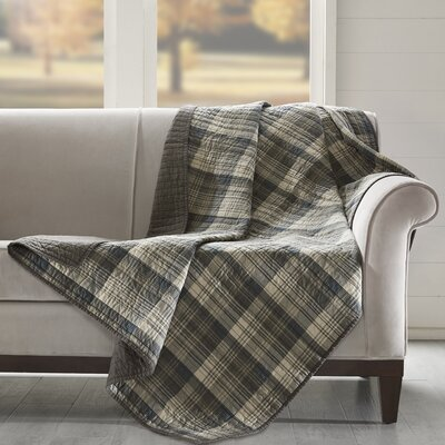 Tasha Quilted Cotton Throw Color: Taupe