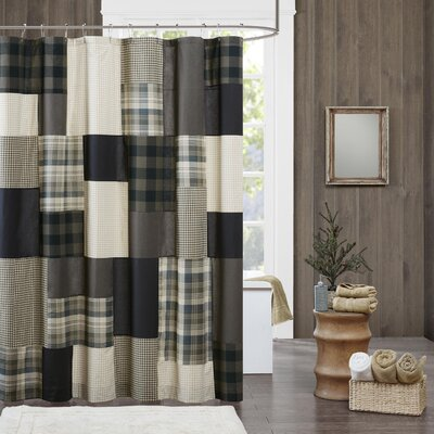 Winter Hills 100% Cotton Shower Curtain Color: Tan