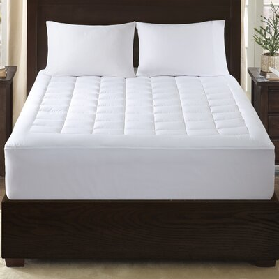 Lexington 300 Thread Count Cotton Down Alternative Mattress Pad Size: King