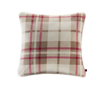 Plush to Berber Throw Pillow Color: Khaki/Red