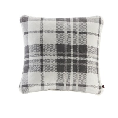 Plush to Berber Throw Pillow Color: Gray/Charcoal