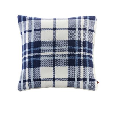 Plush to Berber Throw Pillow Color: Navy