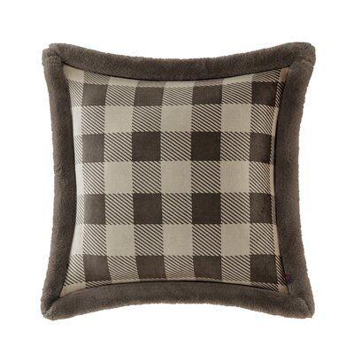 Plush Faux Fur Throw Pillow Color: Tan/Brown