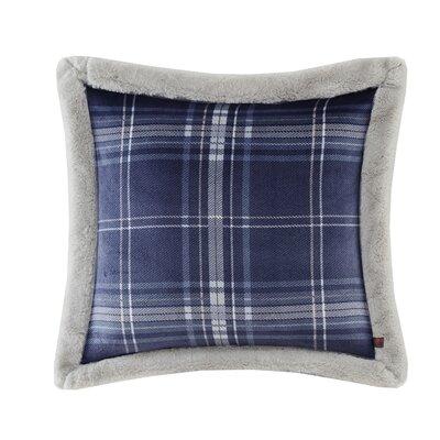 Plush Faux Fur Throw Pillow Color: Navy