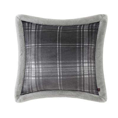 Plush Faux Fur Throw Pillow Color: Gray
