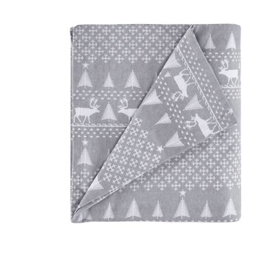 Printed 100% Cotton Sheet Set Size: Queen, Color: Gray