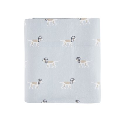 Printed 100% Cotton Sheet Set Size: Queen, Color: Blue