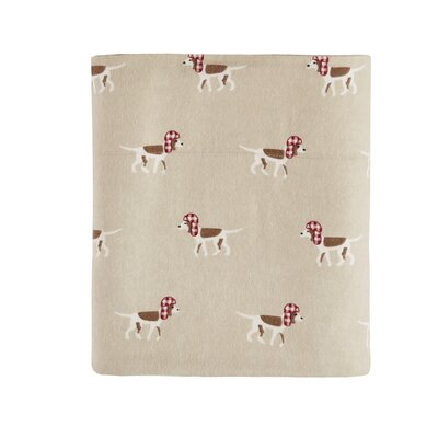 Printed 100% Cotton Sheet Set Size: King, Color: Tan