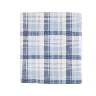 Tasha 100% Cotton Flannel Sheet Set Size: King, Color: Blue