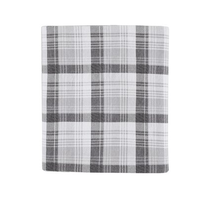 Tasha 100% Cotton Flannel Sheet Set Size: King, Color: Gray