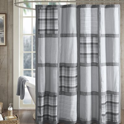 Huntington 100% Cotton Shower Curtain Color: Gray
