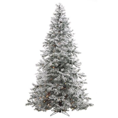 cheap washburn 7 5 39 white artificial christmas tree with 550 clear lights with stand for sale. Black Bedroom Furniture Sets. Home Design Ideas