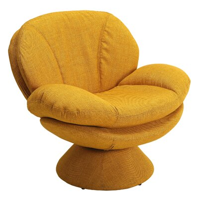 Rio Fabric Lounge Chair Color: Yellow