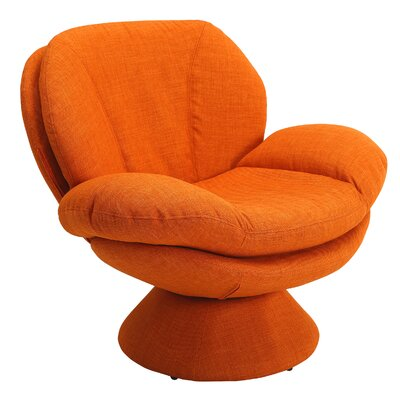 Rio Fabric Lounge Chair Color: Orange