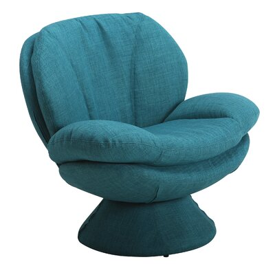 Rio Fabric Lounge Chair Color: Blue