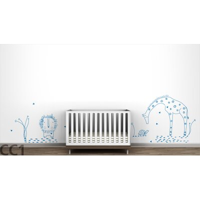 "LittleLion Studio Fauna ""You Are My Sunshine"" Wall Decal - Color: Azure Blue at Sears.com"