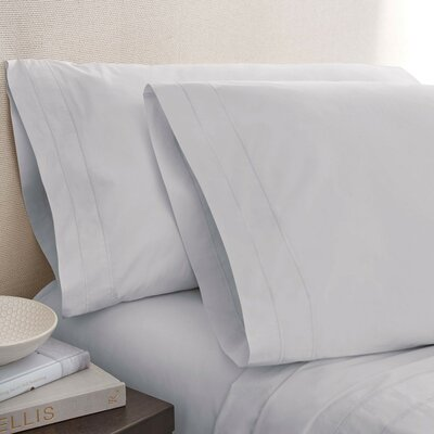 Denizen 275 Thread Count 100% Certified Organic Cotton Fitted Sheet Size: Queen, Color: Mist