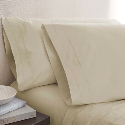 Denizen 275 Thread Count 100% Certified Organic Cotton Flat Sheet Size: King, Color: Oat