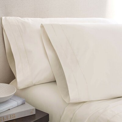 Denizen 275 Thread Count 100% Certified Organic Cotton Fitted Sheet Size: King, Color: Pearl