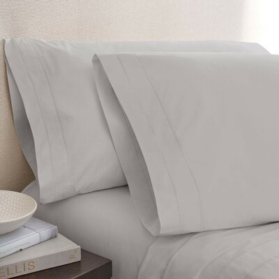 Denizen 275 Thread Count 100% Certified Organic Cotton Flat Sheet Size: King, Color: Cloud