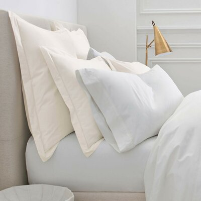 Denizen Square Sham Size: King, Color: Pearl