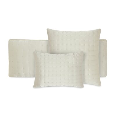 Aesthete Silk Throw Pillow Color: Champagne