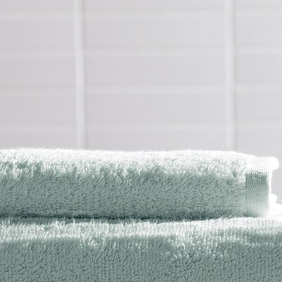 Solid Slub Wash Cloth Color: Sky