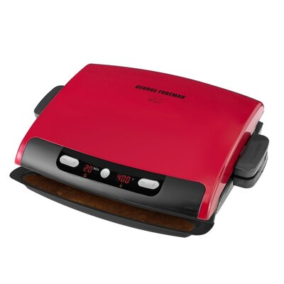 Applica Grp95r Gf Dig Rem Plate Grill Red GRP95R