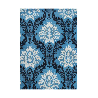 New Zealand Handmade French Blue Area Rug