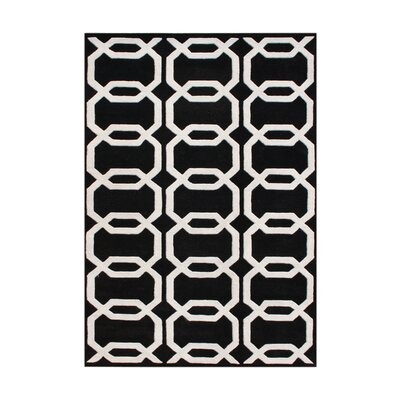 New Zealand Handmade Black Area Rug Rug Size: 5 x 8