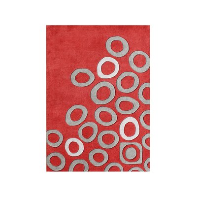 New Zealand Handmade Red Area Rug Rug Size: 5 x 8