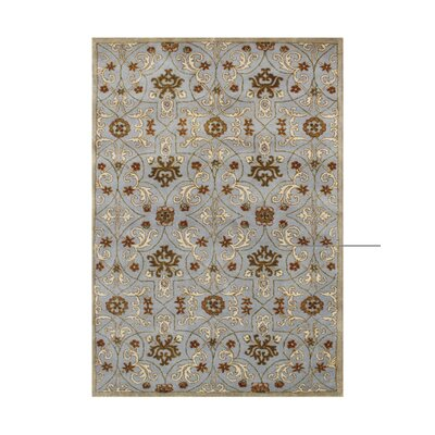 Pawnee Hand Tufted Wool Pearl Blue Area Rug
