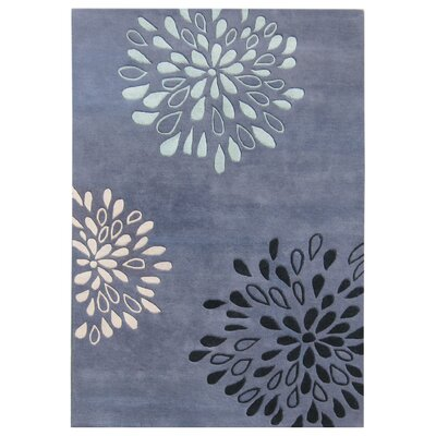 New Zealand Handmade Moon Light Blue Area Rug Rug Size: Rectangle 9 x 12