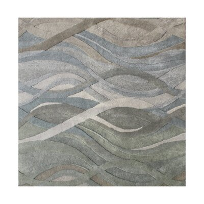 New Zealand Handmade Gray/Green Area Rug