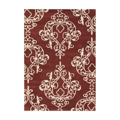 New Zealand Handmade Burgundy Area Rug