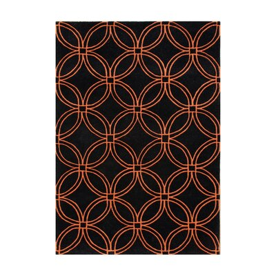 New Zealand Handmade Black Area Rug