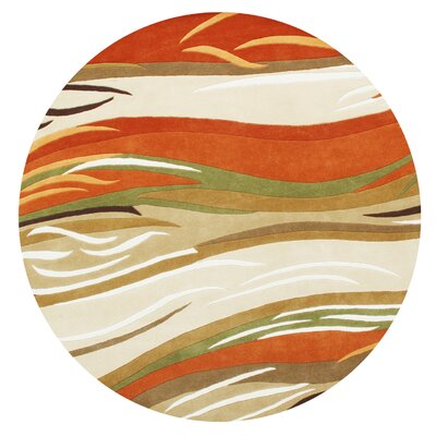 New Zealand Handmade Sand/Orange Area Rug