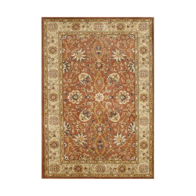 Macedonia Traditional Hand Tufted Wool Rust Area Rug