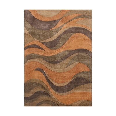 New Zealand Handmade Caramel Area Rug Rug Size: Square 6