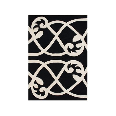 New Zealand Handmade Jet Black Area Rug