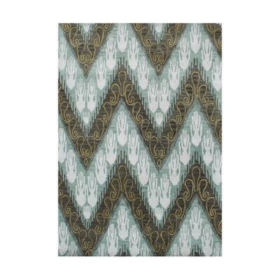 New Zealand Handmade Forest Green Area Rug